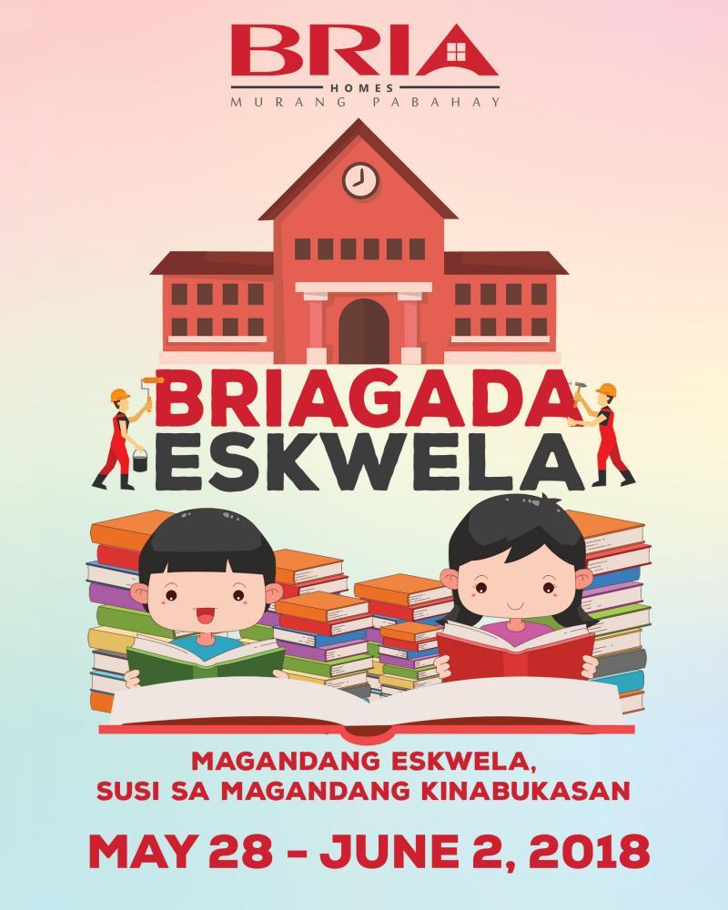 A graphic with the tagline Brigada Eskwela