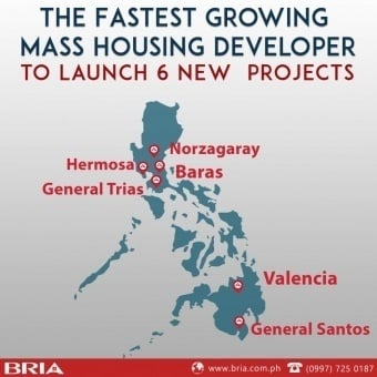 Image showing the map of the Philippines with the tagline The Fastest Growing Mass Housing Developer