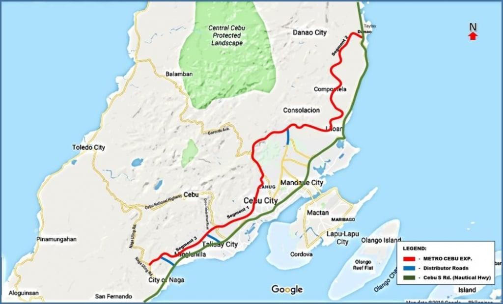 Metro Cebu Expressway Map